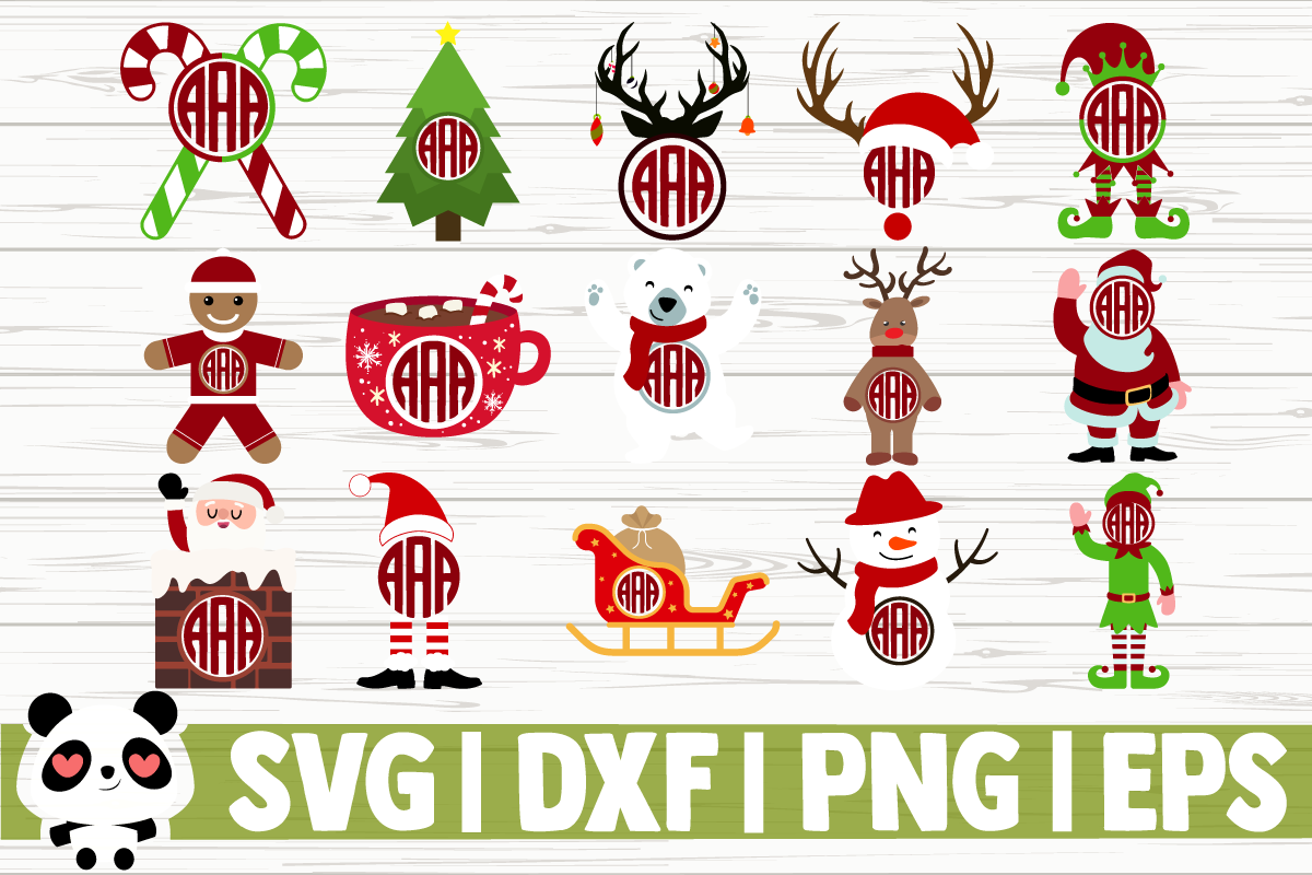 Download Free Christmas Monogram Bundle Graphic By Creativedesignsllc for Cricut Explore, Silhouette and other cutting machines.