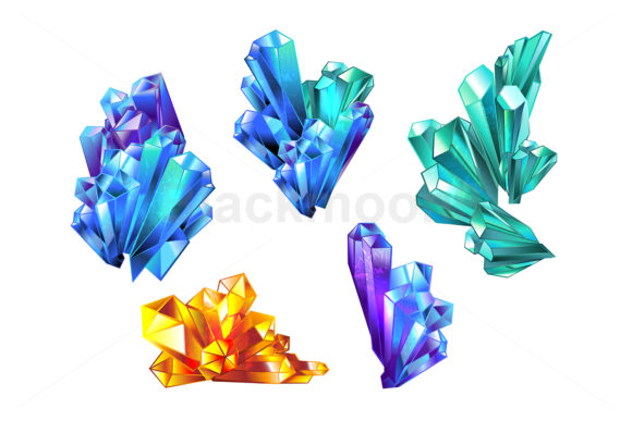 Crystal Collection Graphic Illustrations By Blackmoon9