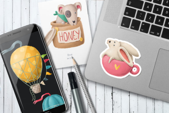 Print on Demand: Cute Animals Clipart Graphic Illustrations By Architekt_AT - Image 5