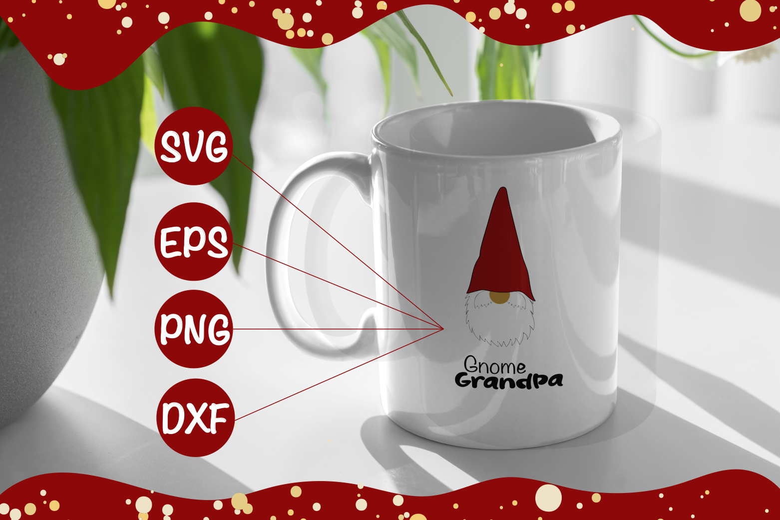 Download Free Gnome Grandpa Svg Eps Png Dxf Graphic By Arpondesign Creative for Cricut Explore, Silhouette and other cutting machines.