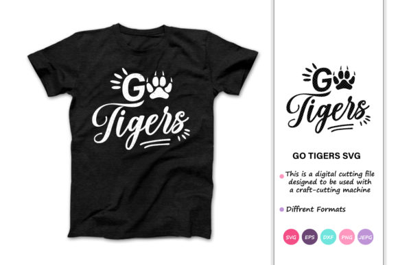 Print on Demand: Go Tigers Graphic Crafts By iprintasty