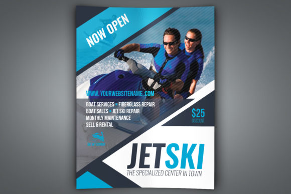 Print on Demand: Jet Ski Flyer Template Graphic Print Templates By OWPictures