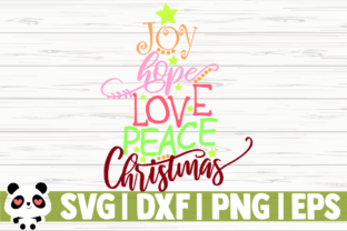 Download Free Joy Hope Love Peace Christmas Graphic By Creativedesignsllc for Cricut Explore, Silhouette and other cutting machines.