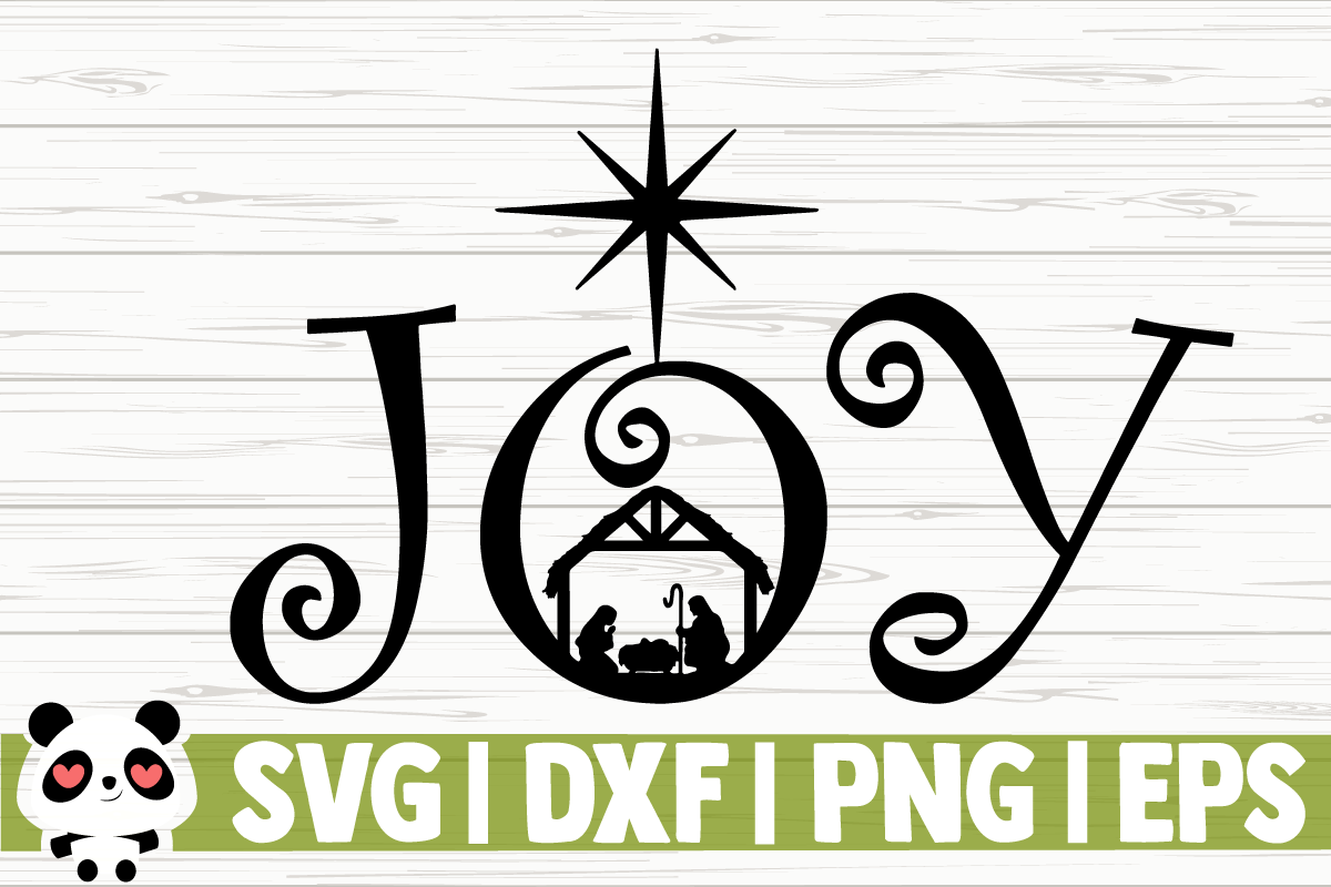 Download Free Joy Nativity Scene Graphic By Creativedesignsllc Creative for Cricut Explore, Silhouette and other cutting machines.