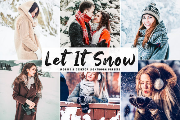Print on Demand: Let It Snow Lightroom Presets Graphic Actions & Presets By Creative Tacos