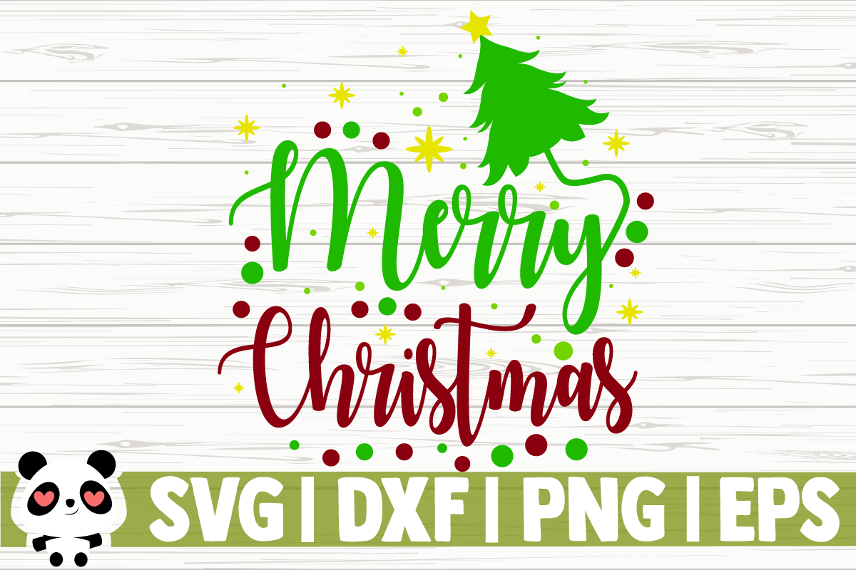 Merry Christmas Pine Tree Graphic By Creativedesignsllc