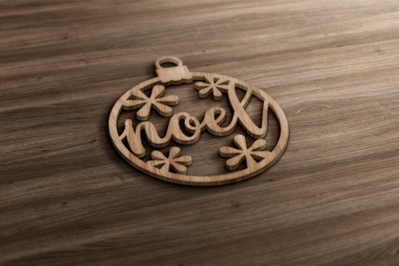 Papercut Christmas Word Ornaments Graphic Crafts By RisaRocksIt - Image 2