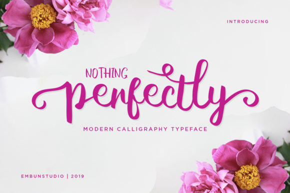 Print on Demand: Perfectly Script & Handwritten Font By EmbunStudio