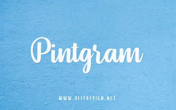 Print on Demand: Pintgram Script & Handwritten Font By Alit Design