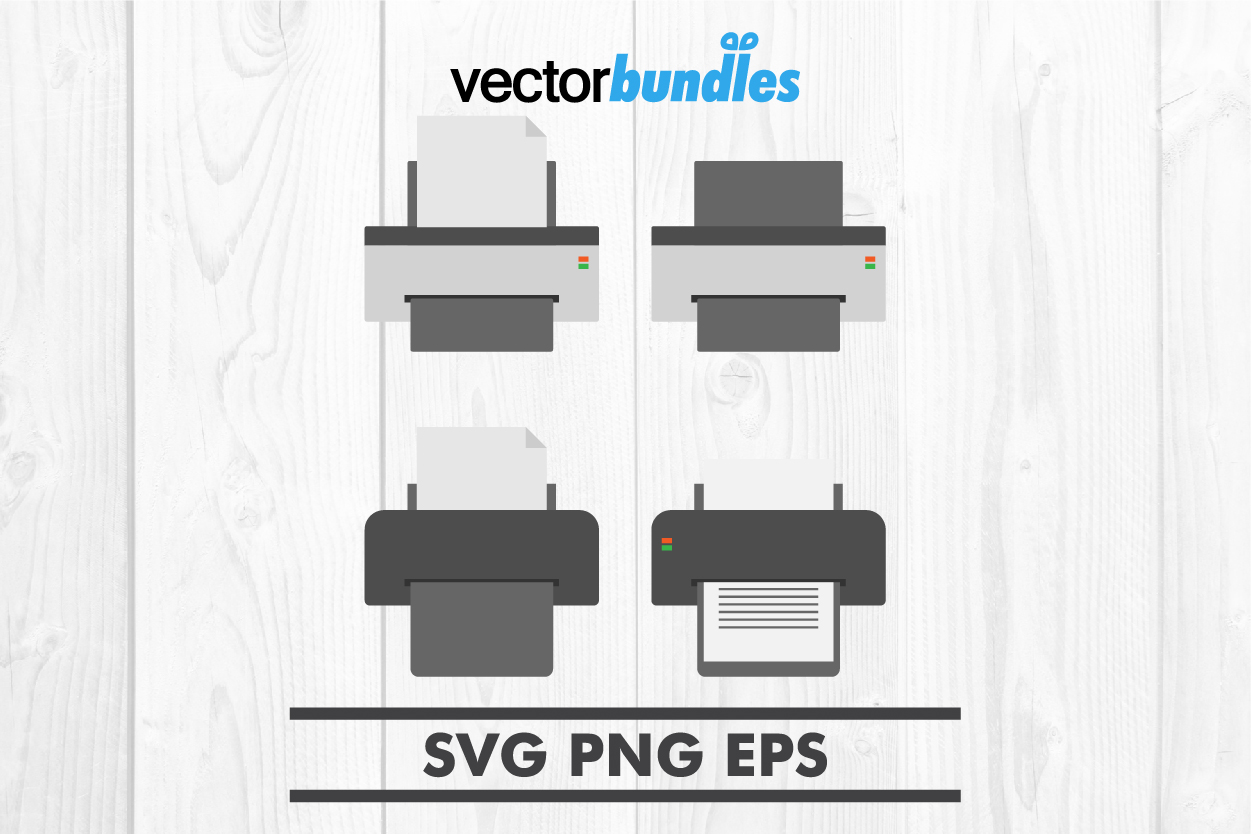 Download Free Printer Clip Art Graphic By Vectorbundles Creative Fabrica for Cricut Explore, Silhouette and other cutting machines.