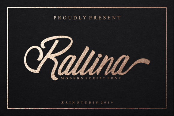 Print on Demand: Rallina Script & Handwritten Font By zainstudio