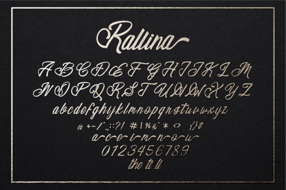 Print on Demand: Rallina Script & Handwritten Font By zainstudio - Image 7