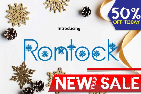 Print on Demand: Rontock Display Font By da_only_aan