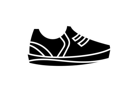 Download Free Shoes Icon In Black Style Vector Grafico Por Hoeda80 Creative for Cricut Explore, Silhouette and other cutting machines.