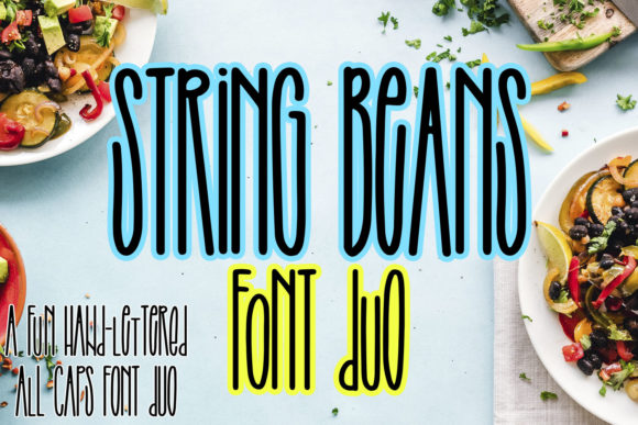 Print on Demand: String Beans Display Font By freelingdesignhouse - Image 1