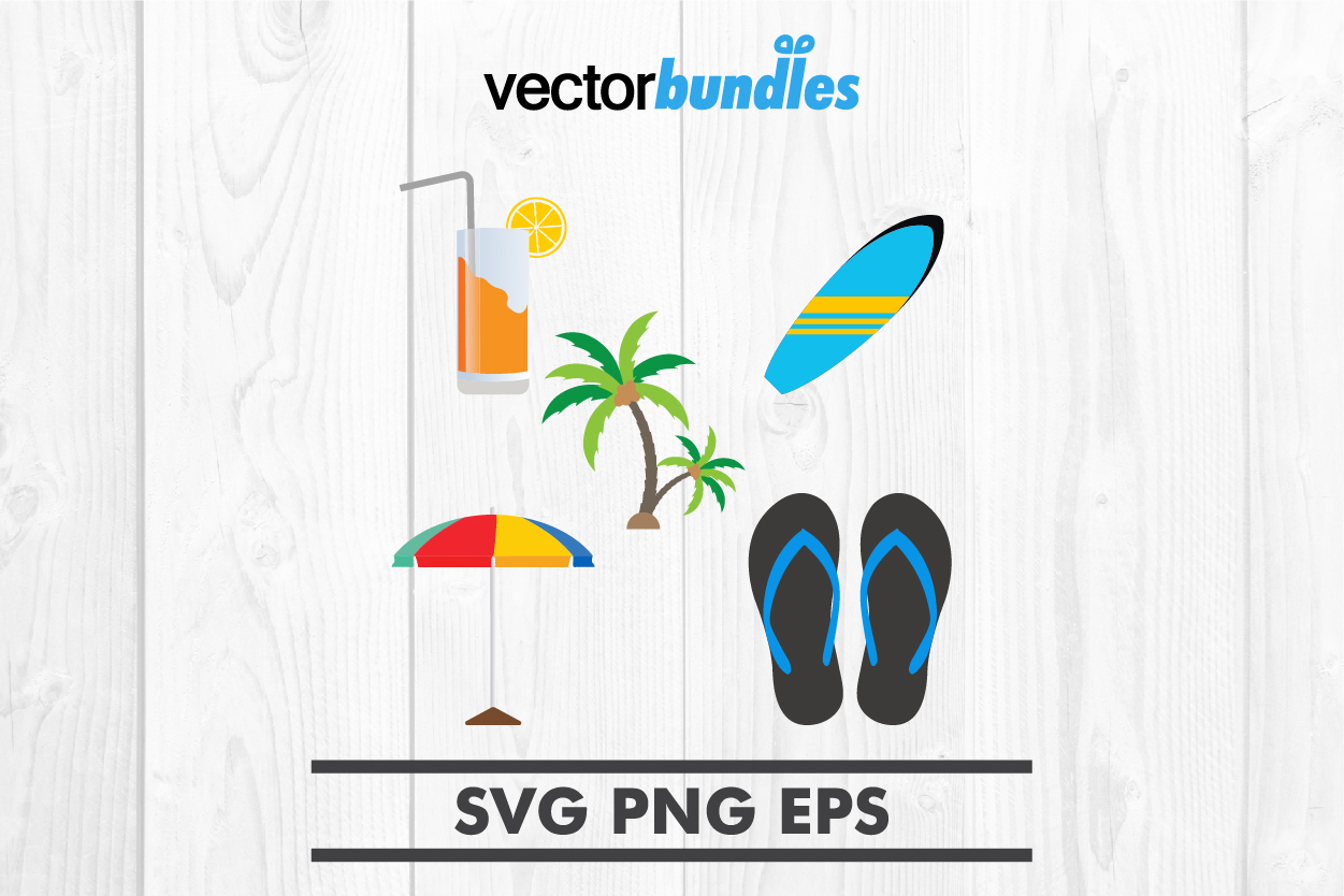 Download Free Summer Season Clip Art Item Graphic By Vectorbundles Creative for Cricut Explore, Silhouette and other cutting machines.