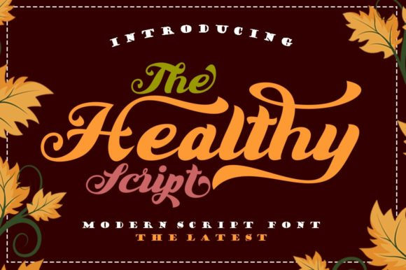 Print on Demand: The Healthy Script Script & Handwritten Font By Shape Studio