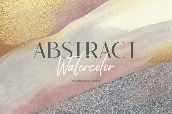 Print on Demand: Watercolor Brushes (JPG-PNG) Backgrounds Graphic Textures By Creative Paper