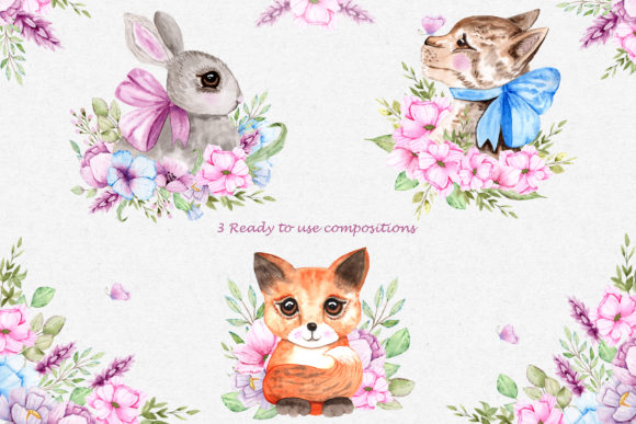 Print on Demand: Watercolor Friends Collection Graphic Illustrations By tanatadesign - Image 4
