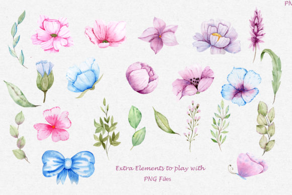 Print on Demand: Watercolor Friends Collection Graphic Illustrations By tanatadesign - Image 5
