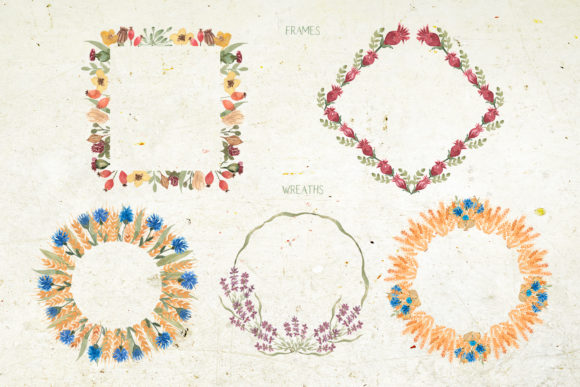 Watercolor Wildflower Bouquet Set Graphic Illustrations By Maya Navits - Image 4