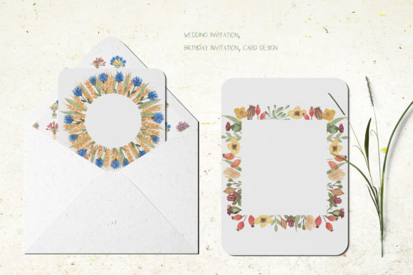 Watercolor Wildflower Bouquet Set Graphic Illustrations By Maya Navits - Image 9
