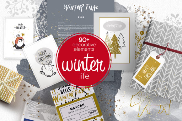 Winter Life ( Big Package) Graphic Illustrations By sto-va