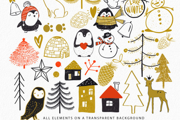Download Free Winter Life Big Package Graphic By Sto Va Creative Fabrica for Cricut Explore, Silhouette and other cutting machines.