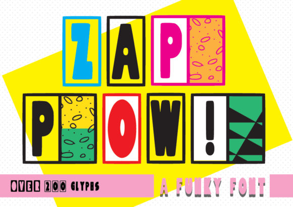 Print on Demand: ZapPow Decorative Font By GraphicsBam Fonts