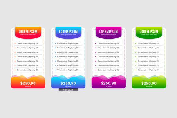 Print on Demand: Gradient Color Infographics Graphic Infographics By noory.shopper