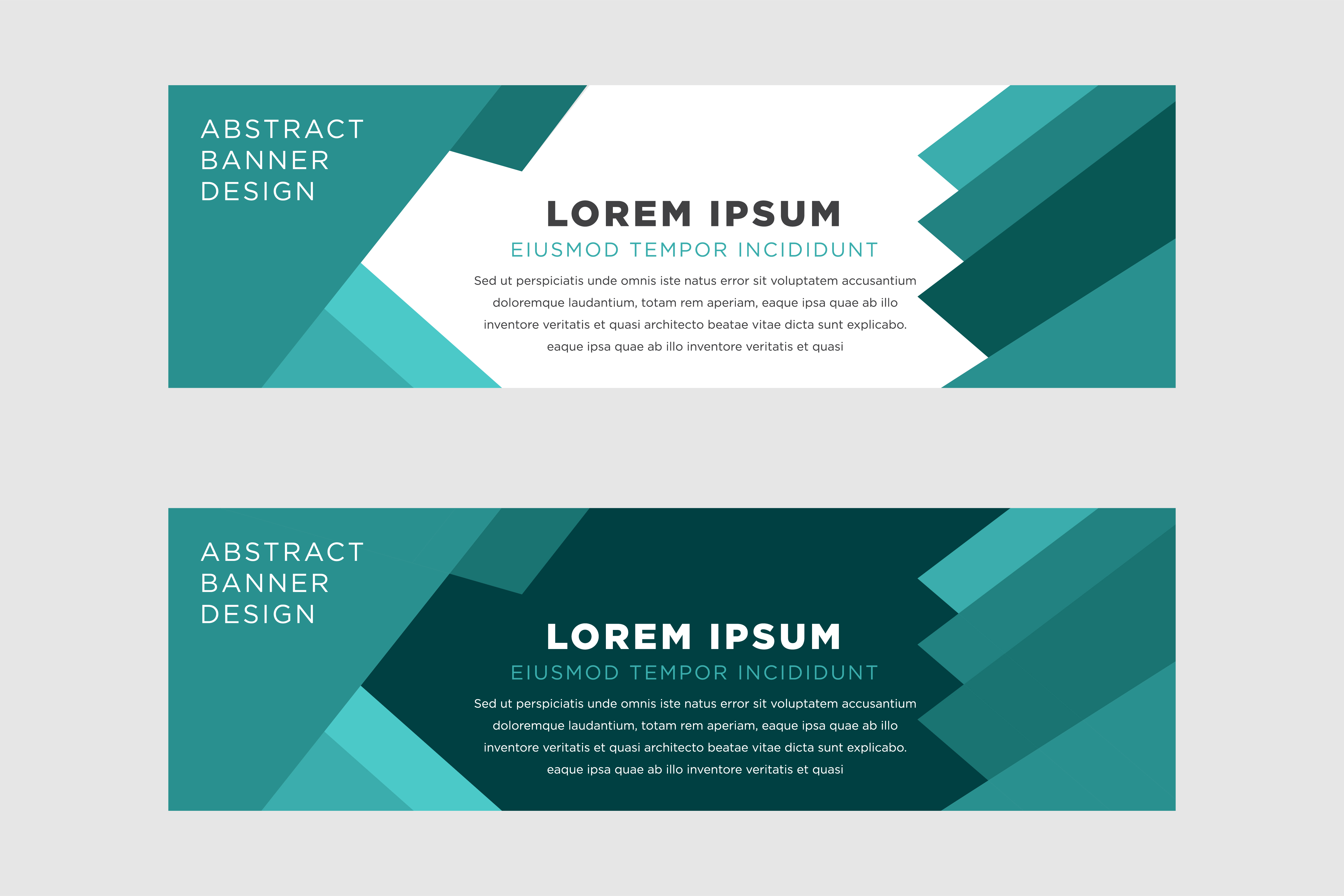 Download Free Horizontal Banner Green Abstract Graphic By Noory Shopper for Cricut Explore, Silhouette and other cutting machines.