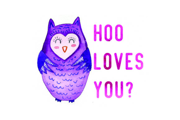 Download Free Hoo Loves You Watercolor Svg Cut File By Creative Fabrica Crafts Creative Fabrica for Cricut Explore, Silhouette and other cutting machines.