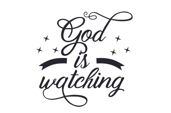Download Free God Is Watching Svg Cut File By Creative Fabrica Crafts for Cricut Explore, Silhouette and other cutting machines.