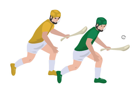 Hurling Players Sports Craft Cut File By Creative Fabrica Crafts