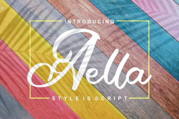 Print on Demand: Aella Script & Handwritten Font By Vunira