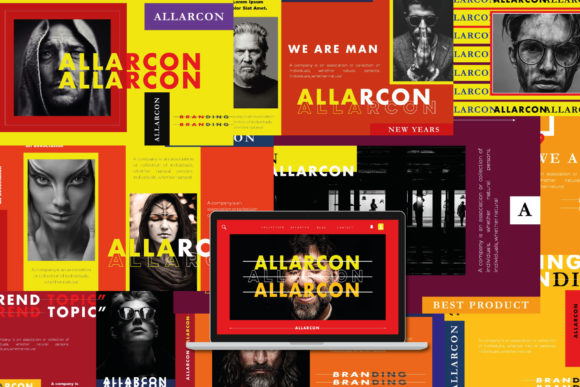 Allarcon - Google Slides Template Graphic Presentation Templates By balyastd - Image 1