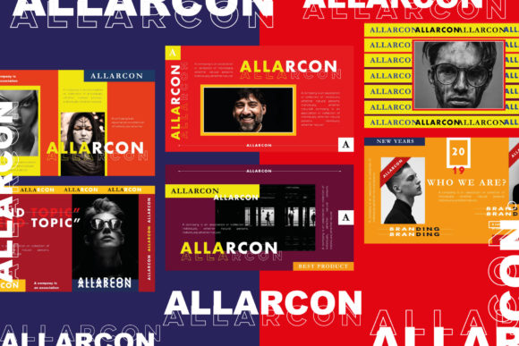 Allarcon - Google Slides Template Graphic Presentation Templates By balyastd - Image 3