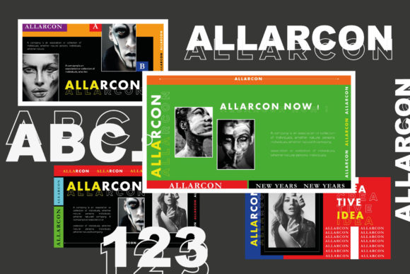 Allarcon - Google Slides Template Graphic Presentation Templates By balyastd - Image 6