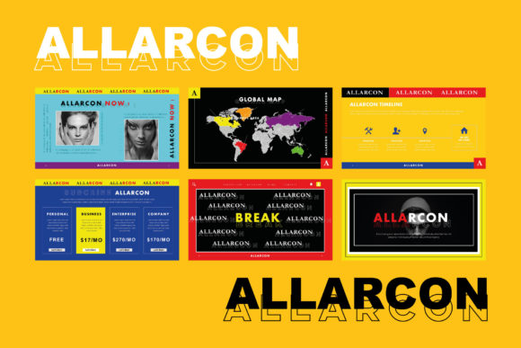 Allarcon - Google Slides Template Graphic Presentation Templates By balyastd - Image 7