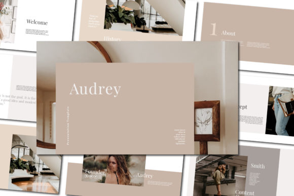 Audrey - PowerPoint Template Graphic Presentation Templates By balyastd