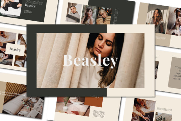 Beasley - Google Slides Template Graphic Presentation Templates By balyastd - Image 1