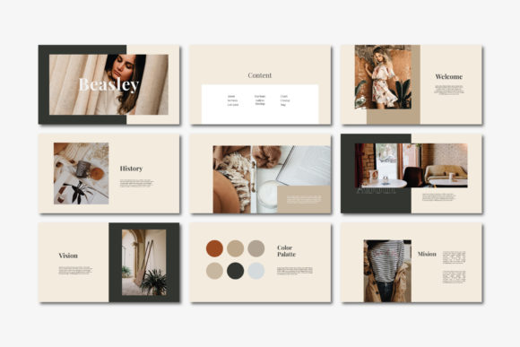 Beasley - Google Slides Template Graphic Presentation Templates By balyastd - Image 4