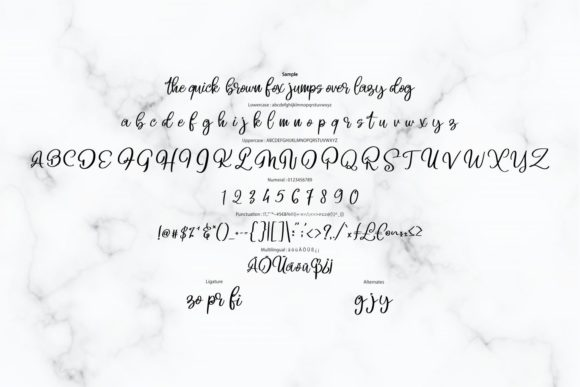 Print on Demand: Beligo Cary Script & Handwritten Font By Vunira - Image 6