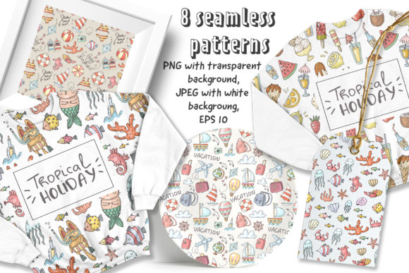 Download Free Big Summer Doodles Collection Graphic By Architekt At Creative for Cricut Explore, Silhouette and other cutting machines.