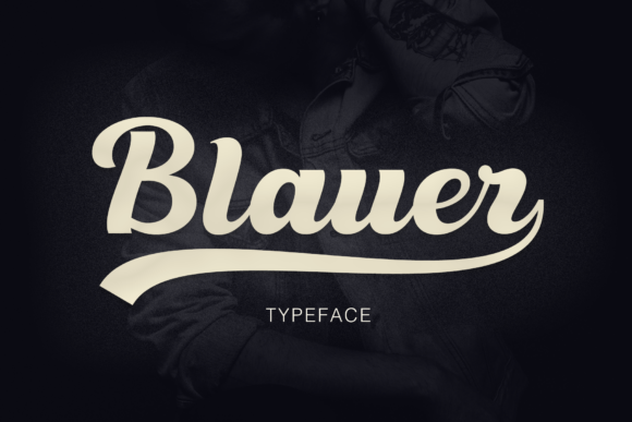 Print on Demand: Blauer Script & Handwritten Font By Pasha Larin