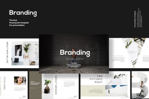 Print on Demand: Branding - Google Slides Template Graphic Presentation Templates By balyastd