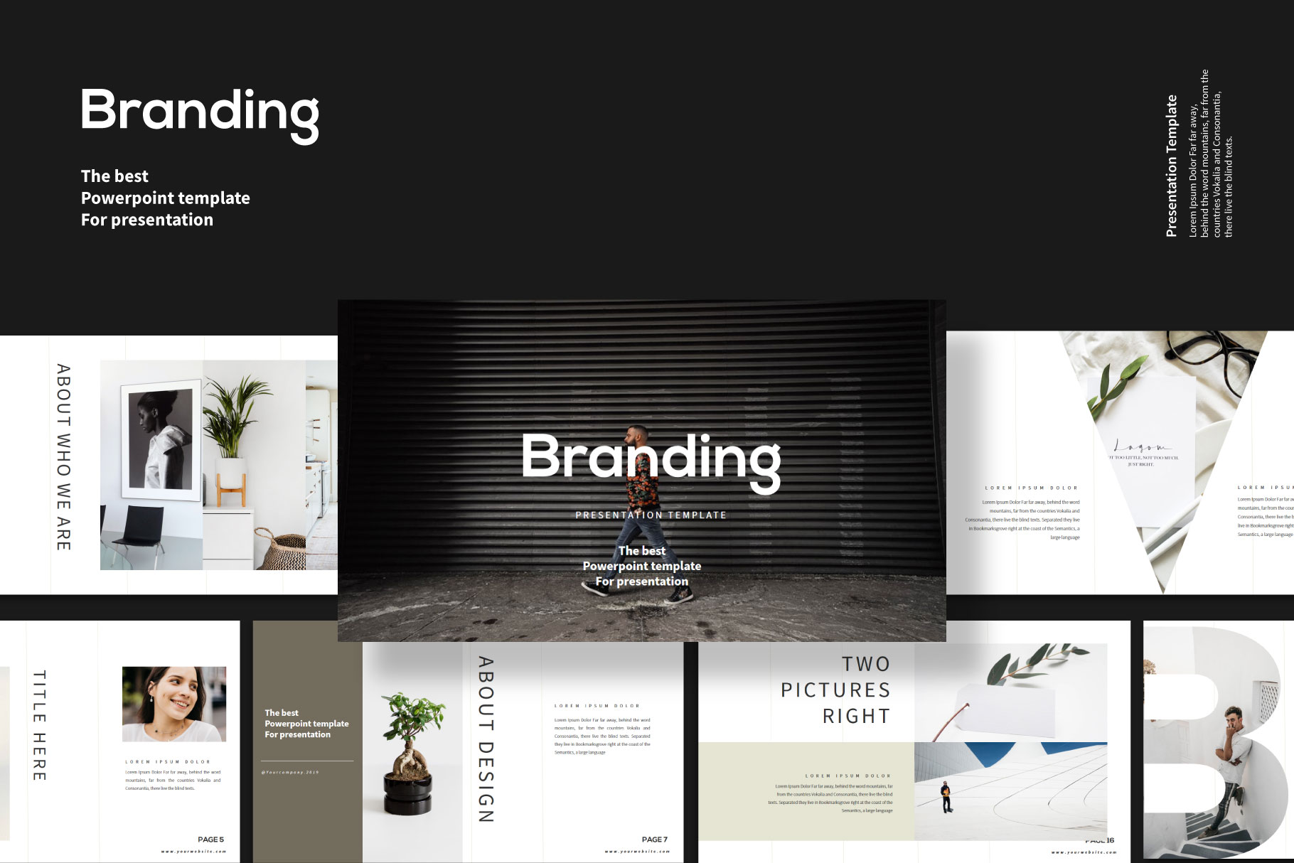 Download Free Branding Powerpoint Template Graphic By Balyastd Creative for Cricut Explore, Silhouette and other cutting machines.