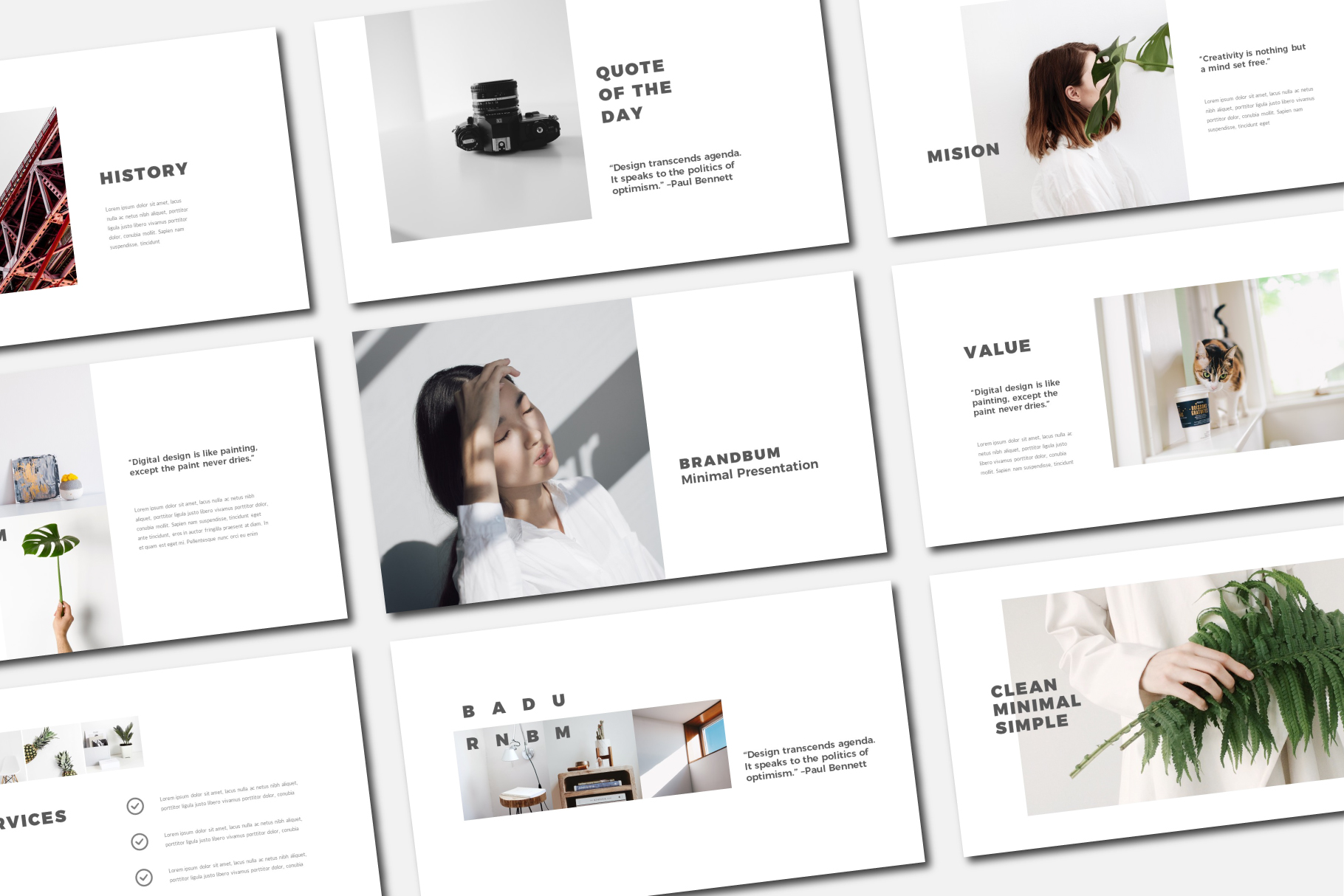 Download Free Brandum Powerpoint Template Grafico Por Balyastd Creative for Cricut Explore, Silhouette and other cutting machines.