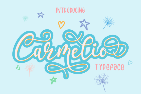 Print on Demand: Carmelio Script & Handwritten Font By RT Studio