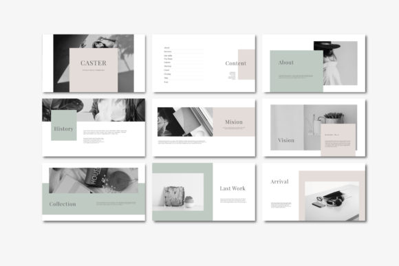 Caster - PowerPoint Template Graphic Presentation Templates By axelartstudio